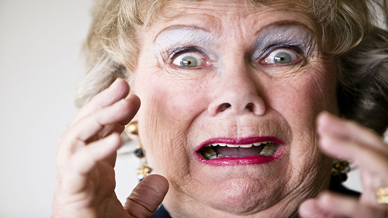 Image result for Frightened Elderly Lady  Picture